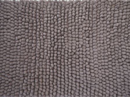 Merveilleux ... CHOCOLATE BROWN SHAGGY BALL BATH RUG MAT NEW THICK COTTON CHENILLE 60  Cm X 100 Cm