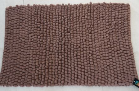 Chocolate brown shaggy ball bath rug mat new thick cotton chenille 60 cm x 100 cm floor rugs for Chocolate brown bathroom rugs