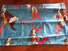 PIRATE-OF-THE-CARRIBBIAN-PILLOWCASE-NEW-BLUE-CHOCOLATE