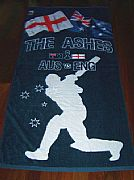 CRICKET-AUSTRALIA-VERSES-ENGLAND-ASHES-REBEL-SPECIAL-XL-TOWEL-160-CM-X-79-CM-+-FREE-CHEERING-ASHES-BALL