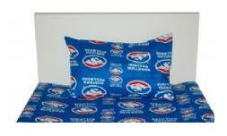 AFL-WESTERN-BULLDOGS-SINGLE-SHEET-SET-FITTED-FLAT-NEW