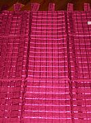 1-X-SPECIAL-LATTICE-TAB-CURTAIN-BURGUNDY-RED-120-cm-X-220-cm-NEW