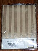 COMMERCIAL-STRIPED-SHOWER-CURTAIN-GOLD-LATTE-INCLUDES-12-HOOK-NEW-180-cm-X-180-cm