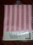 JACQUARD-STRIPED-SHOWER-CURTAIN-PALE-PINK-INCLUDES-12-HOOKS-NEW-180-cm-X-180-cm-COMMERCIAL-GRADE
