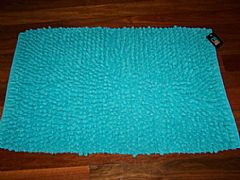 AQUA-BLUE-SHAGGY-BATH-RUG-MAT-NEW-THICK-COTTON-50-CM-X-80-CM