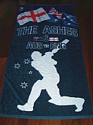 CRICKET-BALL-ASHES-W/SOUND-&-REBEL-ASHES-TOWEL-NEW-AUSTRALIA-VS-ENGLAND-COLLECTORS-ITEM-+-SOFT-BALL-2-piece-set