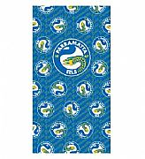 CA-AUSTRALIA-BEACH-OR-BATH-TOWEL-157-cm-X-85-cm-PARRAMATTA-EELS-OFFICIAL-NRL