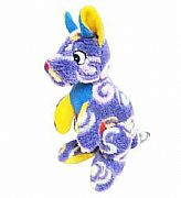 SOFT-TOY-KANGAROO-BRIGHT-PURPLE-SWIRLS-MODERN-CA-AUSTRALIA-26-cm-NEW