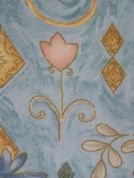 TULIPS-DESIGNER-TABLECLOTH-TEAL-150-cm-X-260-cm-NEW-COMMERCIAL-FLORAL