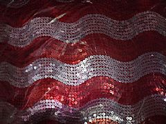 SEQUINS-JAZZY-WAVE-RED-&-SILVER-CUSHION-40-cm-X-40-cm-SQUARE-NEW-DESIGNER
