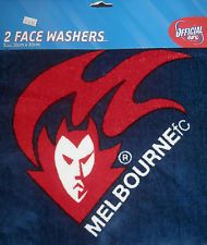 OFFICIAL-AFL-MELBOURNE-DEMONS-Face-Washer-Pack-of-2