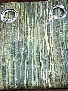 2-X-CURTAIN-SET-RIVIERA-140-CM-X-220-CM-OLIVE-GREEN-TIGER-STRIPE-LOOK-NEW-EYELET
