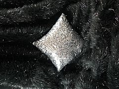 BLACK-GLITTER-THROW-RUG-125-CM-X-152-CM-WITH-BLACK-SUEDE-LOOK-BACK-REVERSE-SIDE