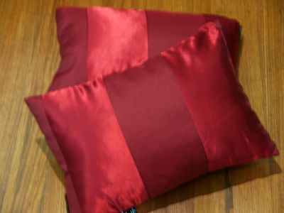 BUY-ONE-GET-ONE-FREE-DESIGNER-CUSHION-2-colours-marone-or-cream-50-cm-X-35-cm-NEW-SPECIAL-BARGAIN