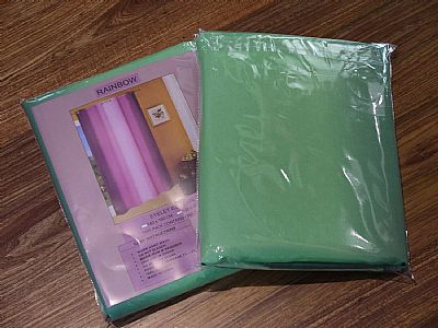 GREEN-RAINBOW-MULTI-COLOUR-EYELET-CURTAIN-set-of-two-each-curtain-140-CM--X-160-CM-OR-220-CM