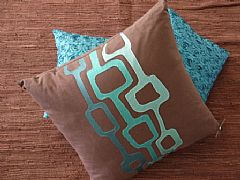 XL-60cm-x-60cm-SQUARE-CUSHION-CHOCOLATE-WITH-AQUA-EMBROIDRY