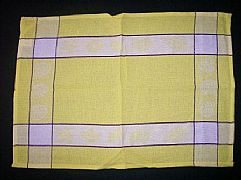 JACQUARD-COTTON-TEA-TOWEL-SEA-SHELL-YELLOW-DESIGNER-CLASS-BARGAIN-NEW-MODERN
