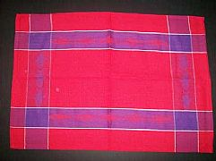 JACQUARD-COTTON-TEA-TOWEL-FISH-RED-AND-PURPLE-DESIGNER-CLASS-BARGAIN-NEW-MODERN