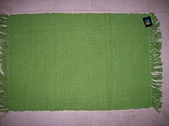 MODERN-STUNNING-ALMO-BRIGHT-LIME-GREEN-COTTON-FLOOR-RUG-MAT-60-cm-X-90-cm-NEW