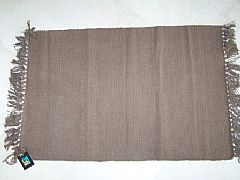 MODERN-STUNNING-ALMO-CHOCOLATE-BROWN-COTTON-FLOOR-RUG-MAT-60-cm-X-90-cm-NEW