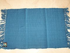 MODERN-STUNNING-ALMO-SEA-BLUE-COTTON-FLOOR-RUG-MAT-60-CM-X-90-CM-NEW