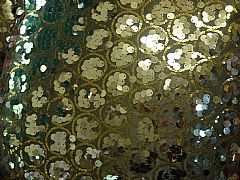SEQUINS & CIRCLES SILVER & GOLD CUSHION 30 cm X 50 cm RECTANGLE NEW DESIGNER